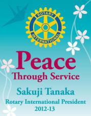 Lema de RI 2012-2013: La paz a través del servicio
